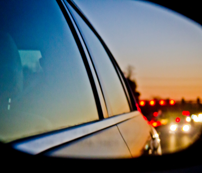 Don't Keep Looking in the Rear Vision Mirror!  You're not going that way.